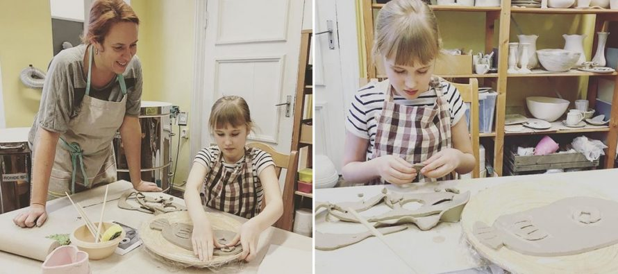 Two month ceramics lessons with Ivanka Shoshana – such a success!
