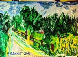 "Paintings by Helena-Reet Ennet: ""Kronoberg"", May 2019"
