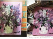 "Paintings by Helena-Reet Ennet: ""Syringa vulgaris"", May 2019 + 2 step by step tutorial videos ""How to draw Lilacs""!"
