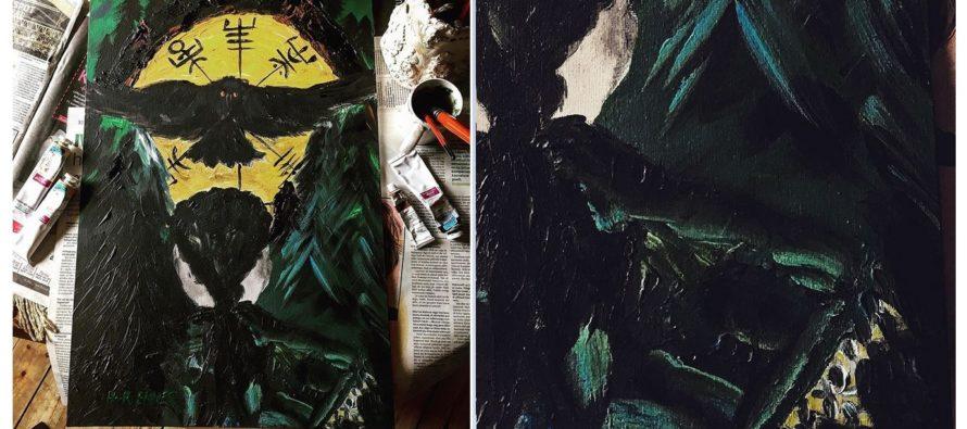 """Paintings by Helena-Reet Ennet: """"Huginn"""", May/June 2019 + HIDDEN SURPRISE!"""