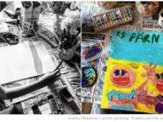 "Paintings by Ivanka Shoshana: ""Ivanka and Viki on the beach"", June 2019"