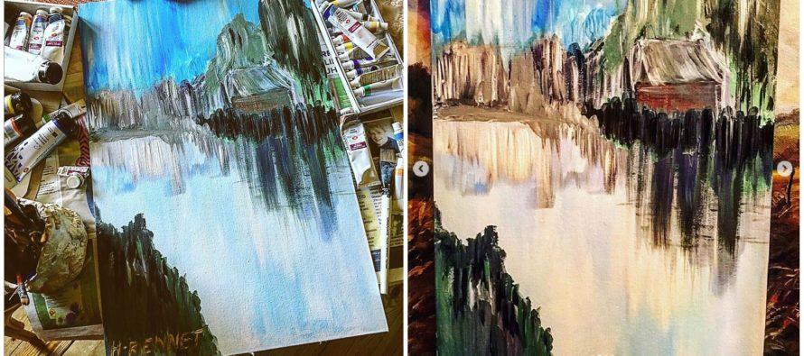 """Paintings by Helena-Reet Ennet: """"Somewhere in Scandinavia"""", June 2019"""