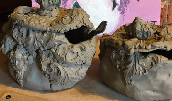 Ceramics by Helena-Reet Ennet – luxurious Versailles style sugar and salt bowls