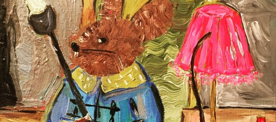 "#19 Paintings by Helena-Reet Ennet: ""His Highness Mouse the First"" (series – painting nr.4), September 2020"