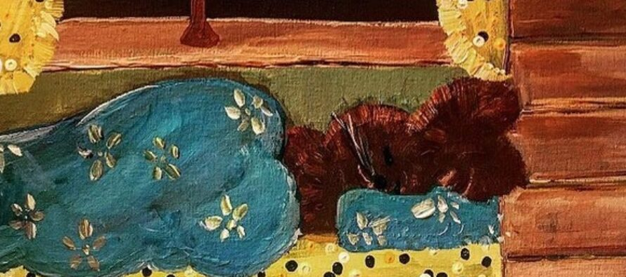 """#25 Paintings by Helena-Reet Ennet: """"His Highness Mouse the First"""" (series – painting nr.9), October 2020"""