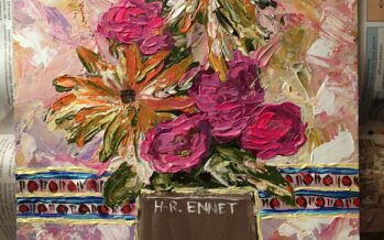 "#28 Paintings by Helena-Reet Ennet: ""Cattail, which is not in the picture"", November 2020"