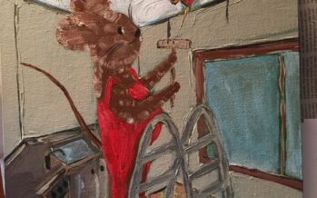 """#32 Paintings by Helena-Reet Ennet: """"His Highness Mouse the First"""" (series – painting nr.14), March 2021"""