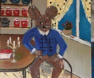 "#31 Paintings by Helena-Reet Ennet: ""His Highness Mouse the First"" (series – painting nr.13), March 2021"