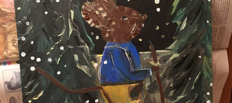 """#30 Paintings by Helena-Reet Ennet: """"His Highness Mouse the First"""" (series – painting nr.12), February 2021"""