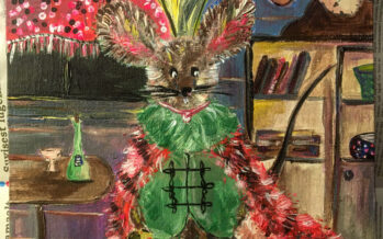"""#17 Paintings by Helena-Reet Ennet: """"His Highness Mouse the First"""" (series – painting nr.2), September 2020"""