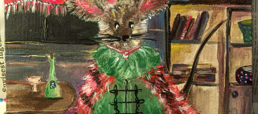"#17 Paintings by Helena-Reet Ennet: ""His Highness Mouse the First"" (series – painting nr.2), September 2020"