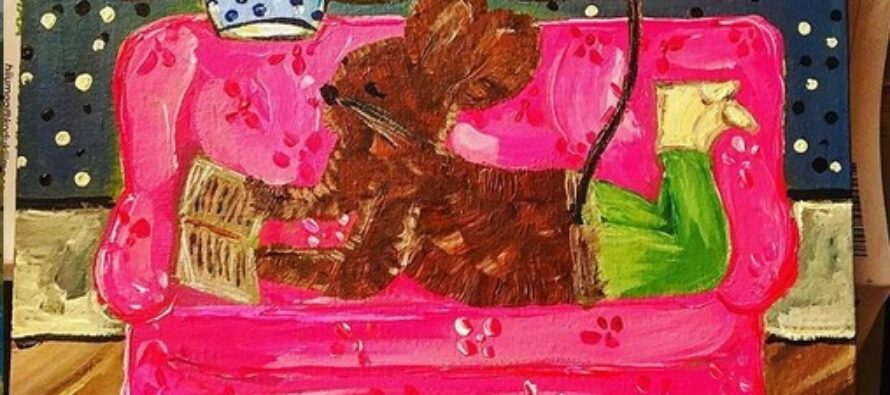"""#24 Paintings by Helena-Reet Ennet: """"His Highness Mouse the First"""" (series – painting nr.8), October 2020"""